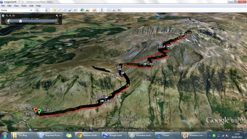 Our Track up Ben Nevis (courtesy of Baz's Garmin 410 watch - want one!) Click on picture to expand.